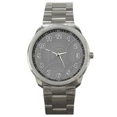 Circular Brushed Metal Bump Grey Sport Metal Watch