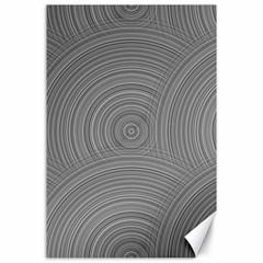 Circular Brushed Metal Bump Grey Canvas 24  x 36