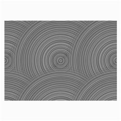 Circular Brushed Metal Bump Grey Large Glasses Cloth (2-Side)