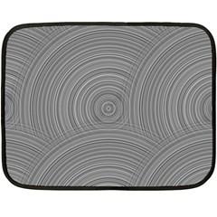 Circular Brushed Metal Bump Grey Fleece Blanket (mini)