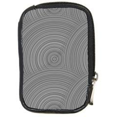 Circular Brushed Metal Bump Grey Compact Camera Cases