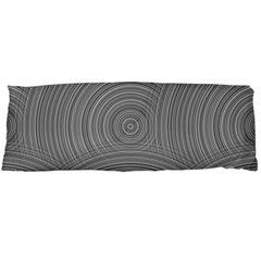 Circular Brushed Metal Bump Grey Body Pillow Case Dakimakura (Two Sides)