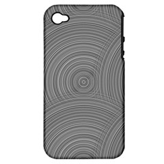 Circular Brushed Metal Bump Grey Apple iPhone 4/4S Hardshell Case (PC+Silicone)