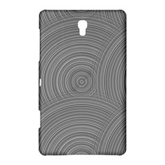 Circular Brushed Metal Bump Grey Samsung Galaxy Tab S (8 4 ) Hardshell Case