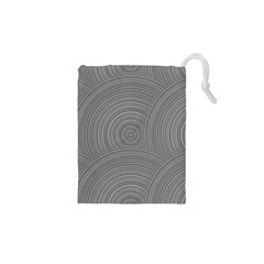 Circular Brushed Metal Bump Grey Drawstring Pouches (XS)