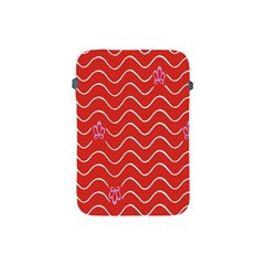 Springtime Wave Red Floral Flower Apple Ipad Mini Protective Soft Cases