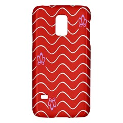 Springtime Wave Red Floral Flower Galaxy S5 Mini