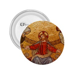 Gold Jesus 2.25  Buttons