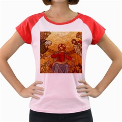 Gold Jesus Women s Cap Sleeve T-Shirt