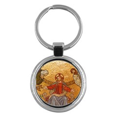 Gold Jesus Key Chains (Round)