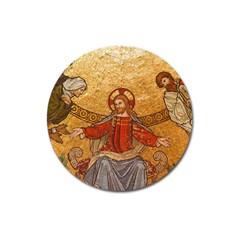 Gold Jesus Magnet 3  (Round)