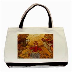 Gold Jesus Basic Tote Bag (Two Sides)
