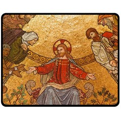 Gold Jesus Fleece Blanket (Medium)