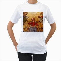 Gold Jesus Women s T-Shirt (White)
