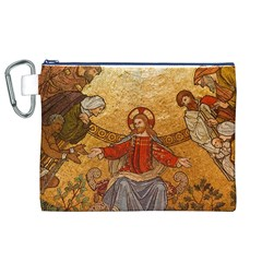 Gold Jesus Canvas Cosmetic Bag (XL)