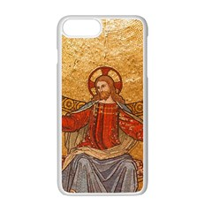 Gold Jesus Apple Iphone 7 Plus White Seamless Case