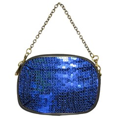 Blue Sequins Chain Purses (Two Sides)