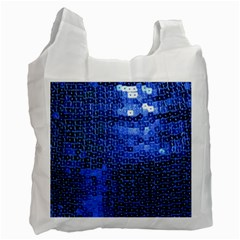 Blue Sequins Recycle Bag (One Side)