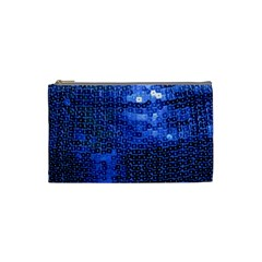 Blue Sequins Cosmetic Bag (Small)