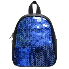 Blue Sequins School Bags (Small)