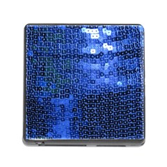 Blue Sequins Memory Card Reader (Square)