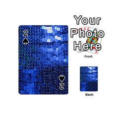 Blue Sequins Playing Cards 54 (Mini)