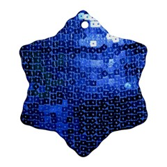 Blue Sequins Snowflake Ornament (Two Sides)