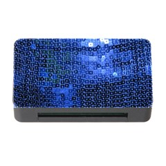 Blue Sequins Memory Card Reader with CF