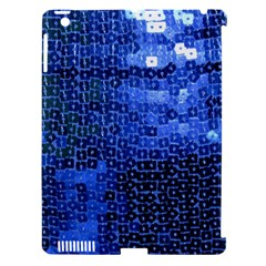 Blue Sequins Apple iPad 3/4 Hardshell Case (Compatible with Smart Cover)