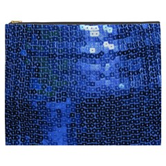 Blue Sequins Cosmetic Bag (XXXL)