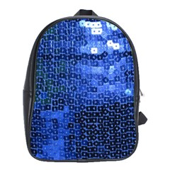 Blue Sequins School Bags (XL)