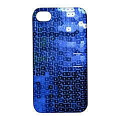 Blue Sequins Apple iPhone 4/4S Hardshell Case with Stand