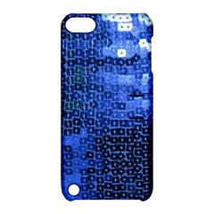 Blue Sequins Apple iPod Touch 5 Hardshell Case with Stand