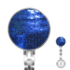 Blue Sequins Stainless Steel Nurses Watch