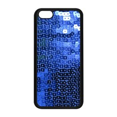 Blue Sequins Apple iPhone 5C Seamless Case (Black)