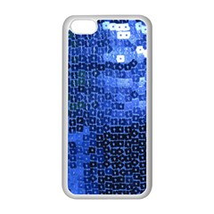 Blue Sequins Apple iPhone 5C Seamless Case (White)