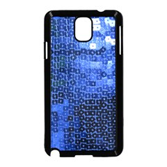 Blue Sequins Samsung Galaxy Note 3 Neo Hardshell Case (Black)