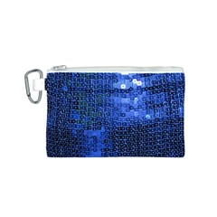 Blue Sequins Canvas Cosmetic Bag (S)