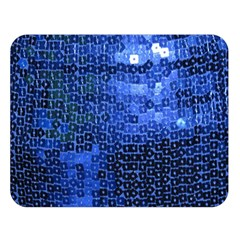 Blue Sequins Double Sided Flano Blanket (Large)