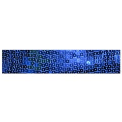 Blue Sequins Flano Scarf (Small)