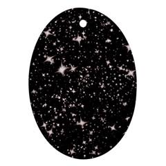 Black Stars Ornament (Oval)