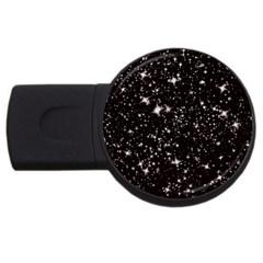 Black Stars USB Flash Drive Round (4 GB)