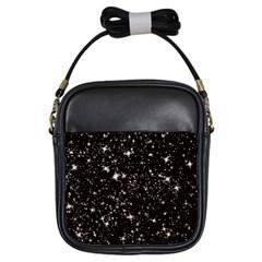 Black Stars Girls Sling Bags