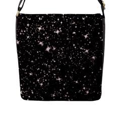 Black Stars Flap Messenger Bag (L)