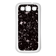 Black Stars Samsung Galaxy S3 Back Case (White)