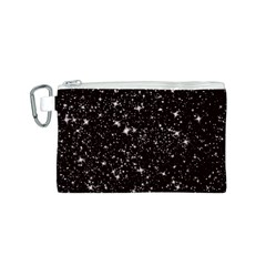 Black Stars Canvas Cosmetic Bag (S)
