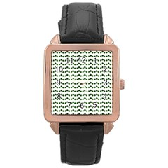 Shamrock Rose Gold Leather Watch