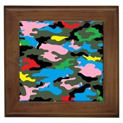 Rainbow Camouflage Framed Tiles