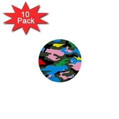 Rainbow Camouflage 1  Mini Buttons (10 pack)