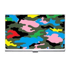 Rainbow Camouflage Business Card Holders